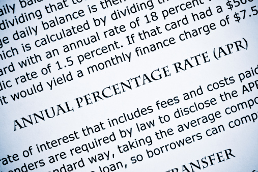 Using APR to Compare Lenders