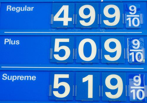 Gas Prices Retract from Five-Year High